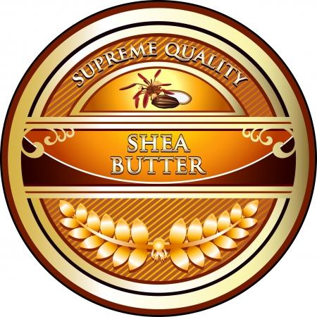 Shea Butter Vintage Label Vector