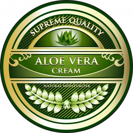 Aloe Vera Cream Vintage Label Vector