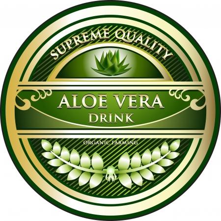 aloe vera: Aloe Vera Drink Vintage Label