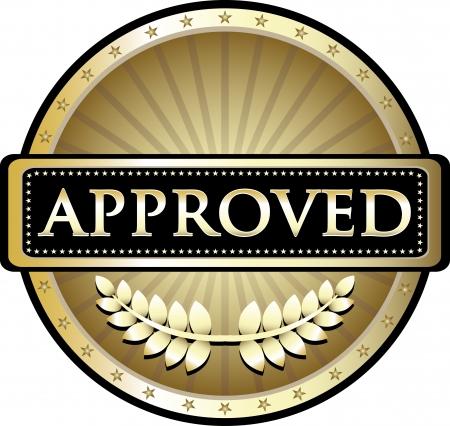 proved: Approved Gold Vintage Label