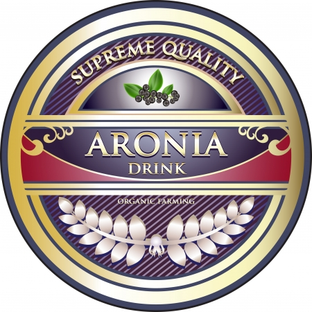 antioxidant: Aronia Drink Vintage Label