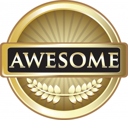gold seal: Awesome Gold Award