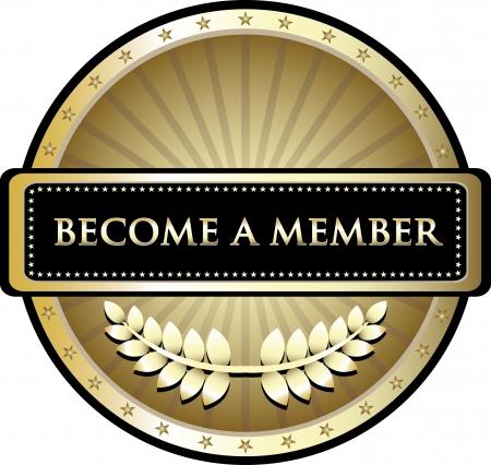 メンバーになる金賞を受賞  イラスト・ベクター素材