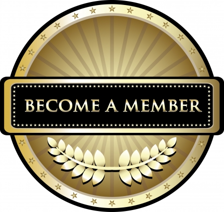 Become A Member Gold Award Vector