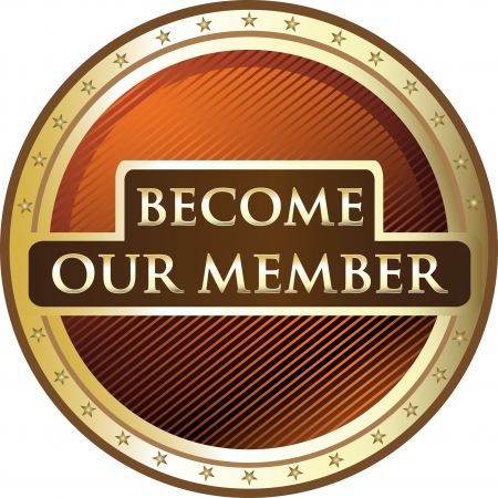 membership: Become Our Member Gold Award Illustration