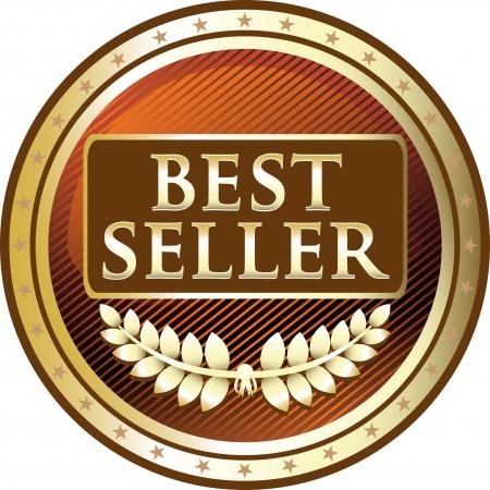 Best Seller Gold Award Vector