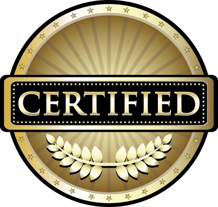Certified Gold Award Vector