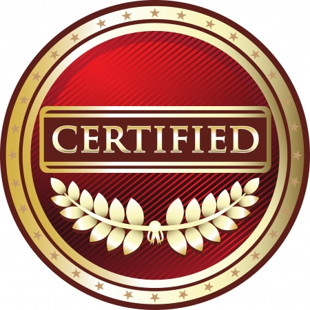 Certified Red Award Vector