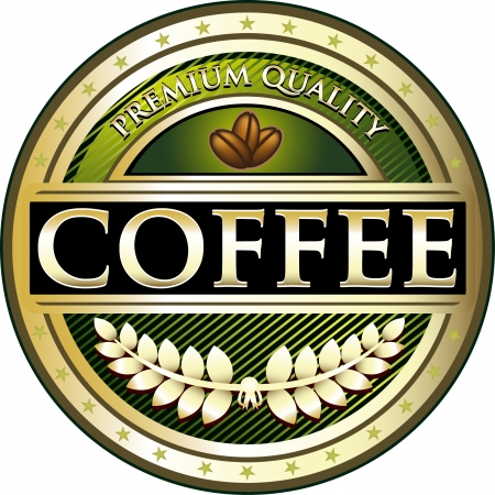 instant coffee: Premium Quality Green Coffee Label