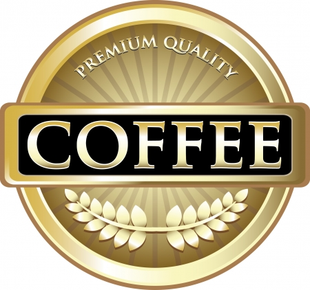 reward: Coffee Pure Gold Award Illustration