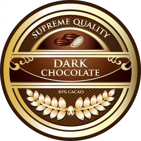 zest: Dark Chocolate Vintage Label