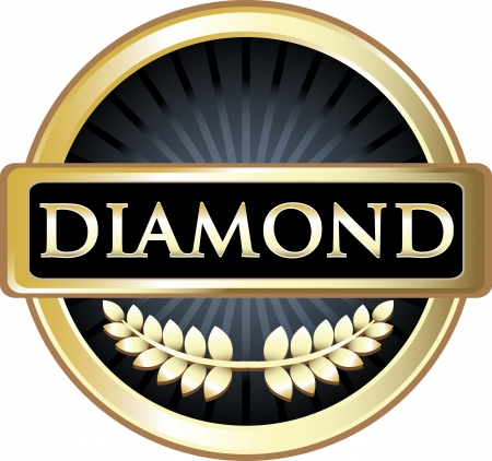 Diamond Gold Award Vector