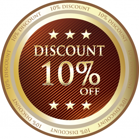 sell off: Red Discount Medal Of Ten Percent Illustration