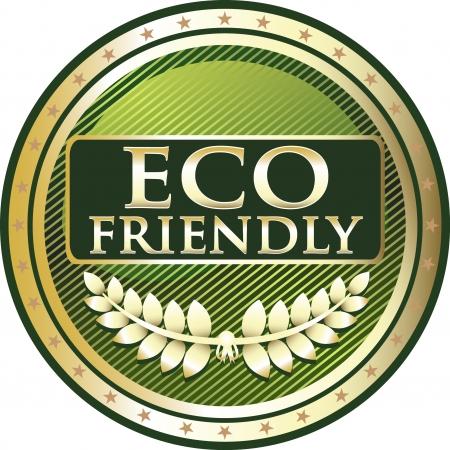 satisfaction guaranteed: Eco Friendly Green Award Illustration