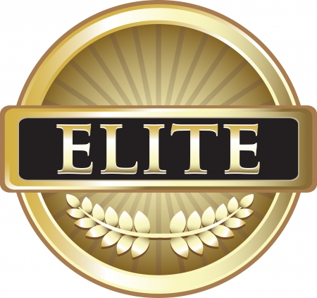 Elite Pure Gold Award Vector