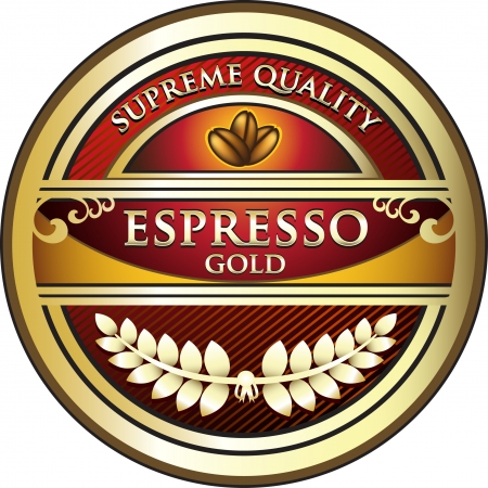 instant coffee: Espresso Red Vintage Label