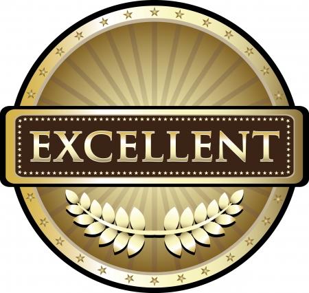 Excellence Gold Award Vector