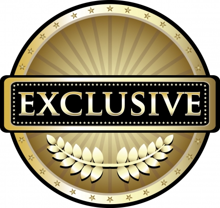 Exclusive Pure Gold Award Vector