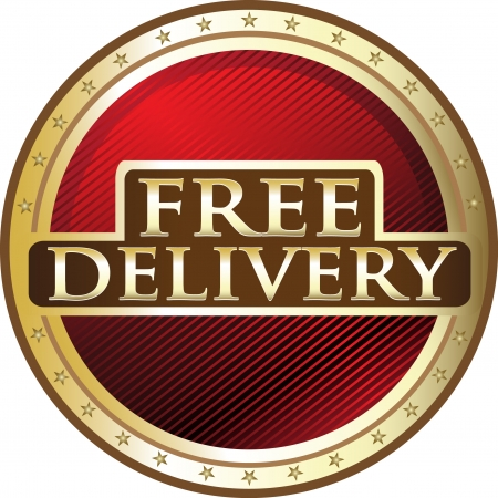 Free Delivery Red Award Vector