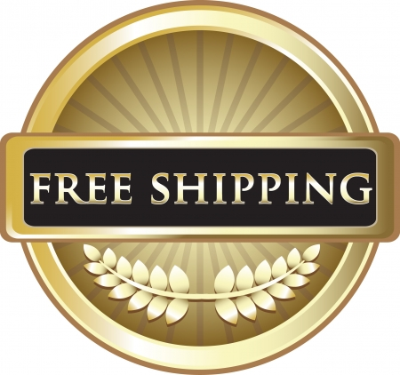 Free Shipping Pure Gold Award Vector