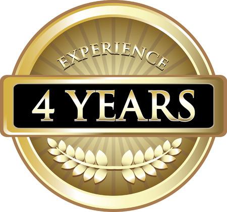 Vier Jahre Erfahrung Icon Standard-Bild - 83921352