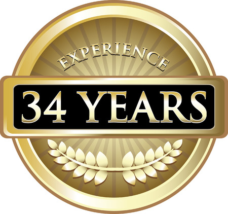 Thirty Four Years Experience Icon