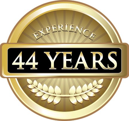Forty Four Years Experience Icon Çizim
