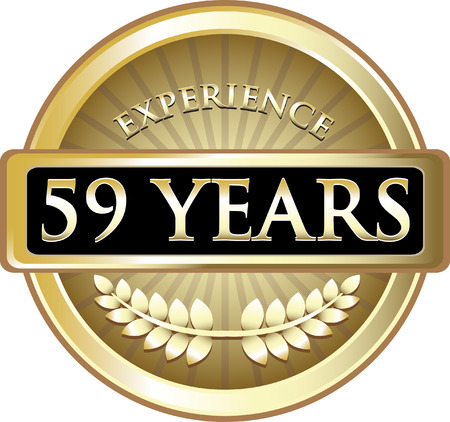 Fifty Nine Years Experience Icon Çizim