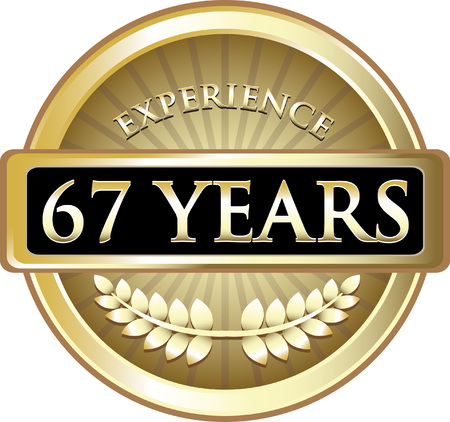 Sixty Seven Years Experience Icon