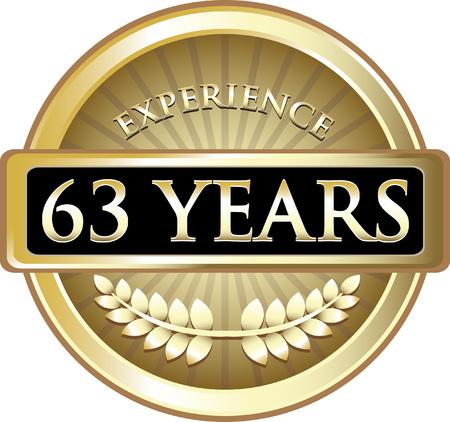 Sixty Three Years Experience Icon Ilustração