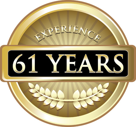 Sixty One Years Experience Icon Çizim