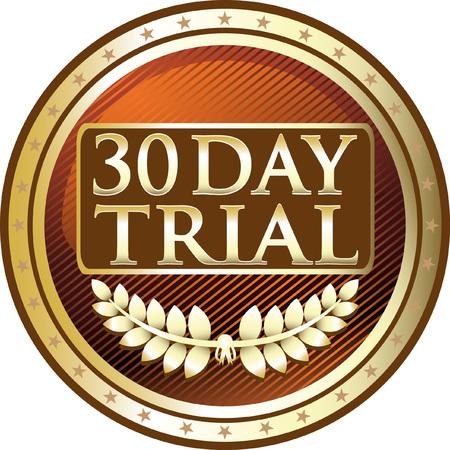Dertig dagen proef gouden pictogram