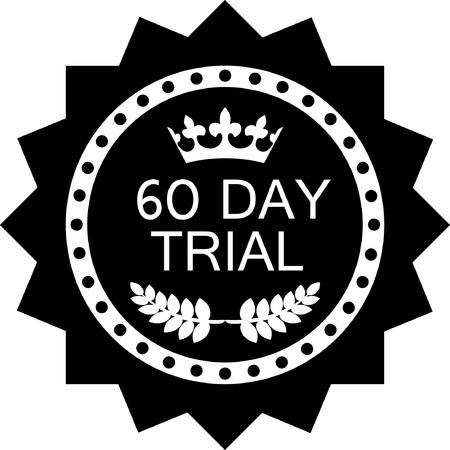 Sixty Day Trial Black Icon