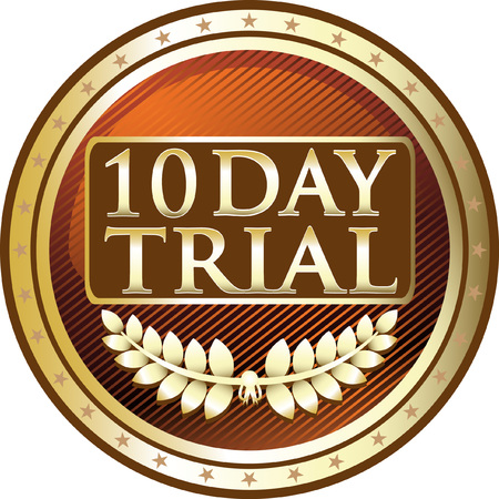 Ten Day Trial Gold Icon