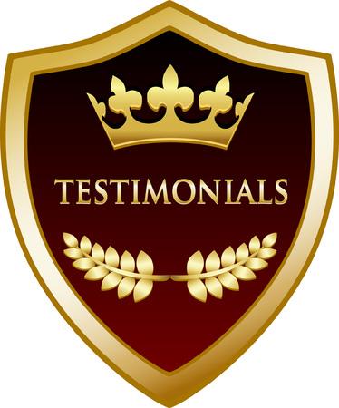 Testimonials Gold Shield Icon