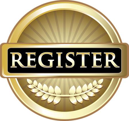 Register Gold Label Icon