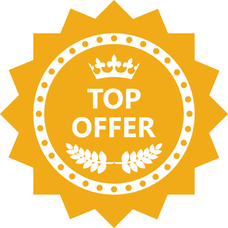 Top Offer Gold Label Icon