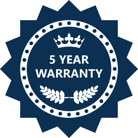 Five Month Warranty Label Icon. Vettoriali
