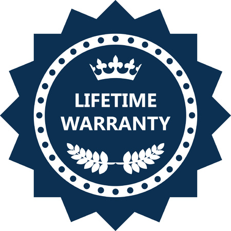 Lifetime Warranty Label Icon.