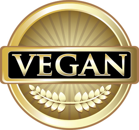 Vegan Gold Label Icon