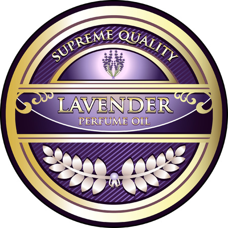 Lavander Essential Oil Illustration