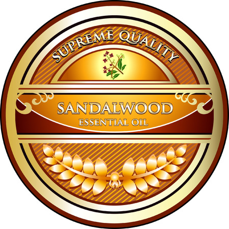 Sandalwood Aromatherapy Essential Oil Иллюстрация