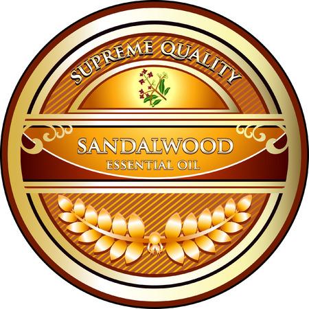 Sandalwood Aromatherapy Essential Oil Illustration