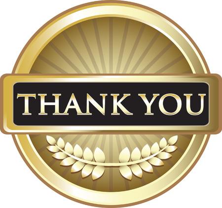 Thank You Gold Icon Vectores