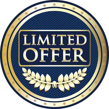Limited offer blue icon