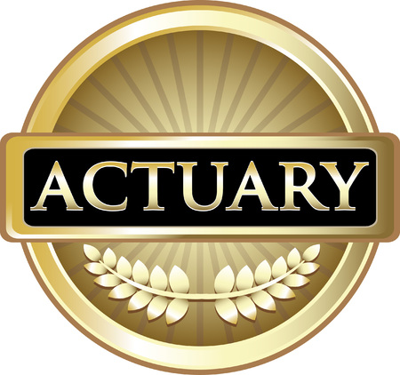 Actuary Gold Icon Label