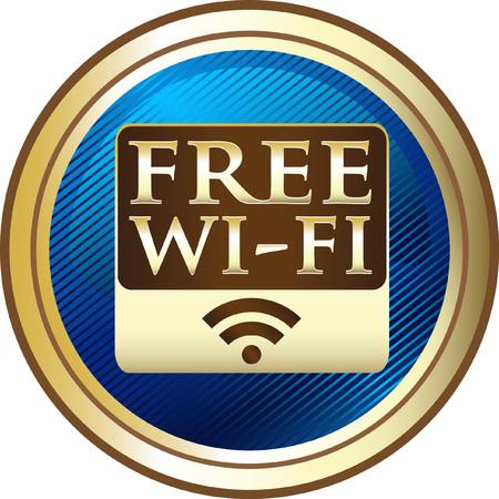 Free WIFI Connection Icon Illusztráció