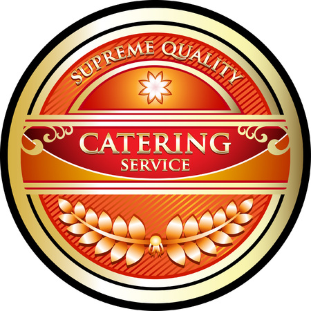 Catering Service Business Label Icon Vectores