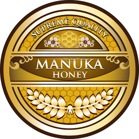 Manuka Honey Gold Product Label Illustration