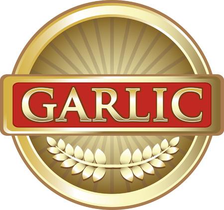 Garlic Gold Label Icon